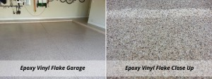 Epoxy Vinyl Flake Garage